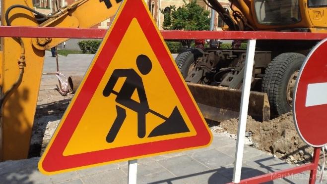 В Йошкар-Оле ограничено движение на кольце улицы Строителей