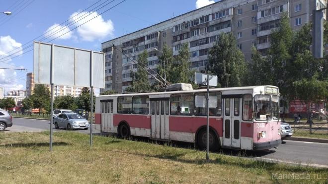 В Йошкар-Оле Ленинский проспект исключён из схемы движения троллейбусов