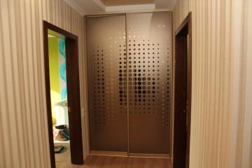 Двери купе (2400*1500), профиль золото матовое,зеркало бронза с рисунком, 13463 руб