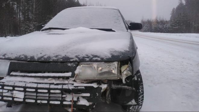 В Юринском районе машина перевернулась в кювет, водитель скрылась с места ДТП