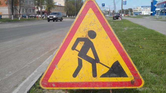 На улице К. Маркса работают дорожники – движение закрыто