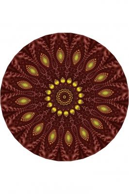 Декоративная тарелка с мандалой