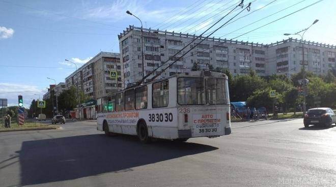 В связи с перекрытием улицы Карла Маркса йошкар-олинские троллейбусы изменят маршрут