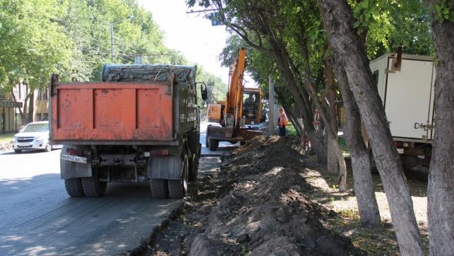 На улице Первомайской ведётся ремонт дорожного полотна