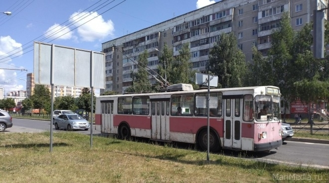 В выходные в Йошкар-Оле изменятся троллейбусные маршруты