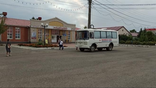 В посёлке Медведево работает мобильный пункт вакцинации от COVID-19
