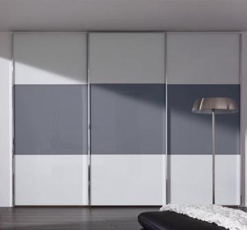 Двери купе (2550*3000), профиль серебро,крашенное стекло, 21378 руб