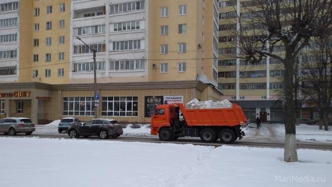В Йошкар-Оле за сутки на снежную свалку вывезено 2 234 кубометра снега