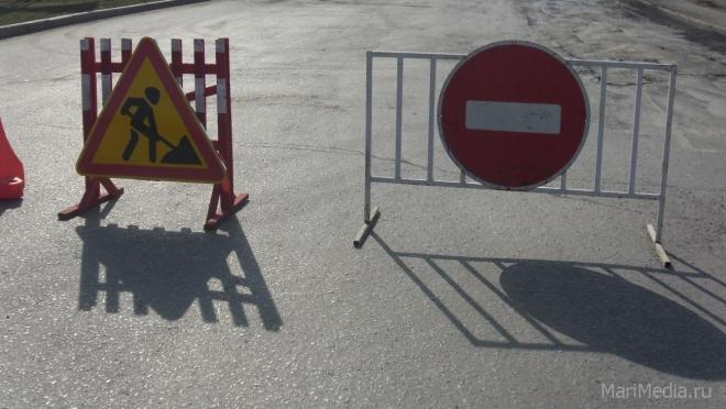 В Йошкар-Оле две недели будет ограничено движение по улице Панфилова