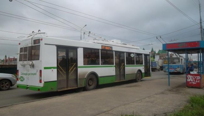 Схема движения троллейбусов по Сомбатхею
