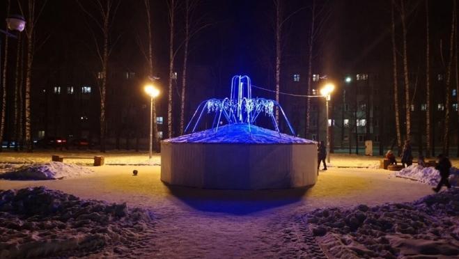 В посёлке Советский включили «зимний фонтан»