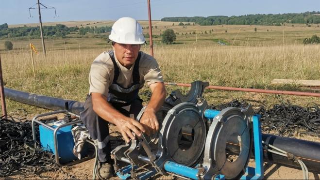 В Советском районе строится межпоселковый газопровод