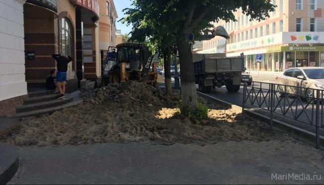 На ремонт тротуаров в Йошкар-Оле не хватает денег
