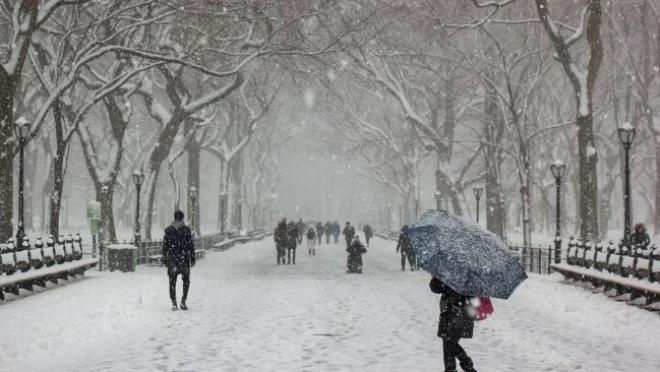 Синоптики обещают снегопад и сильный ветер