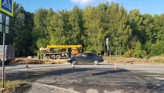 В Тарханово восстановили пешеходный переход