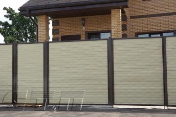 Забор из профнастила Кирпичик.