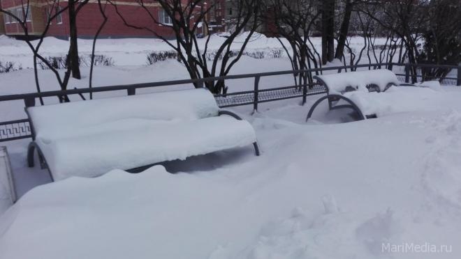 В Марий Эл высота снежного покрова на 10-15 см ниже нормы