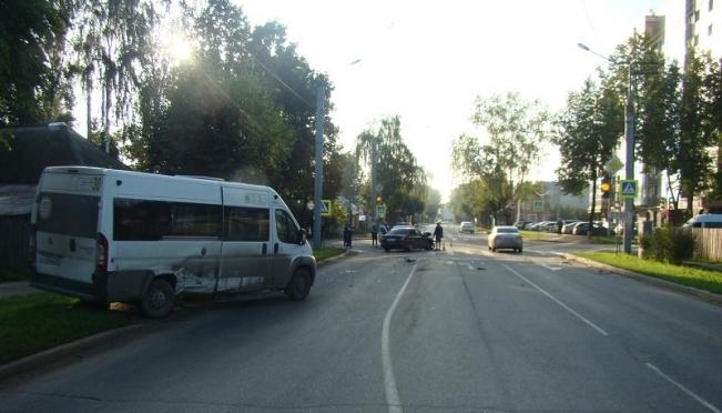 В Йошкар-Оле две маршрутки попали в ДТП