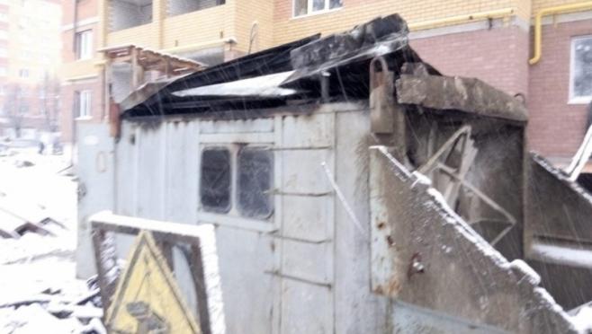Из-за обогревателя в Йошкар-Оле загорелась бытовка