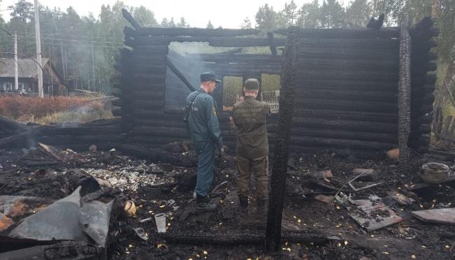 В Килемарском районе на пожаре погибли брат и сестра