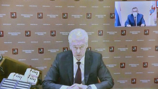 Сергей Собянин провел совещание с главами регионов о мерах по борьбе с коронавирусом