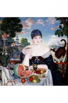 Выставка одного шедевра: Борис Михайлович Кустодиев «Купчиха за чаем»