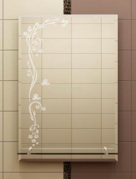 Зеркало с фацетом и пескоструйным рисунком
