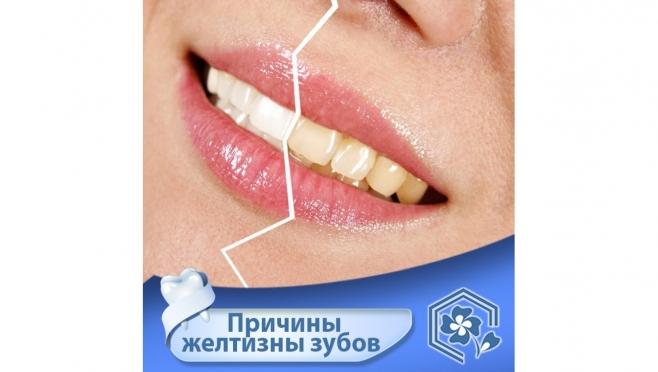 Причины желтизны зубов