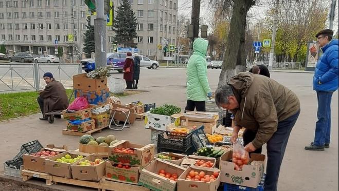 На уличных торговцев в Йошкар-Оле составлено 235 протоколов