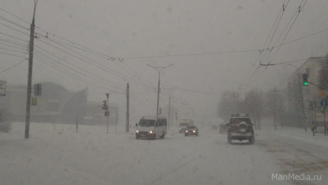 Синоптики предупреждают о сильном снегопаде в Марий Эл