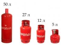 Газовые баллоны 5/ 12/ 27/ 50л. - от 1550 руб.