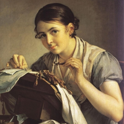 Выставка одного шедевра: Василий Тропинин «Кружевница»,1823