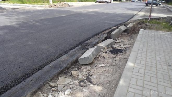 В Йошкар-Оле продолжается ремонт улицы Комсомольской