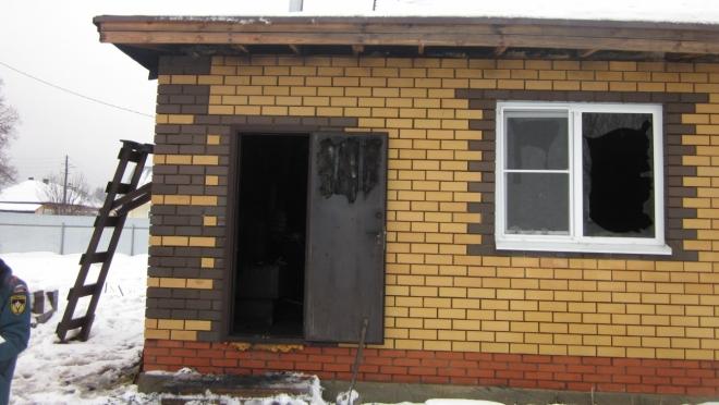 В Суслонгере неизвестные подожгли дом