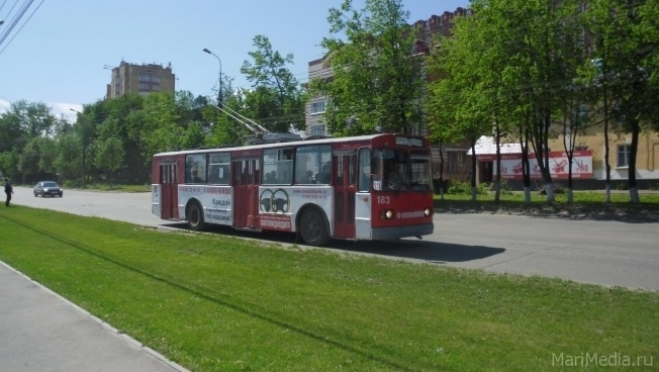 На два дня троллейбусы Йошкар-Олы изменят маршрут